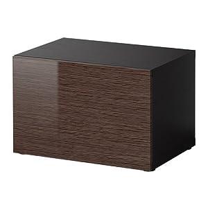 ikea besta regal mit t r schwarz braun bambus. Black Bedroom Furniture Sets. Home Design Ideas