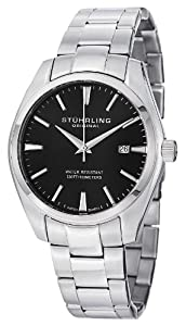Stuhrling Original Men's 414.33111 Aquadiver Regatta Prime Swiss Quartz Date Black Dial Bracelet Watch