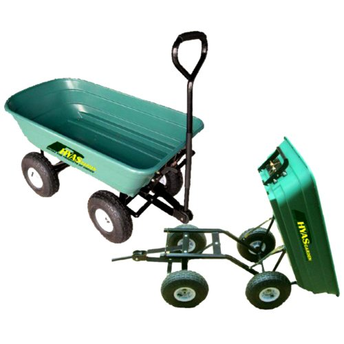 RHYAS PULL AND TOW TIPPING GARDEN CART