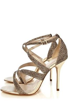 Metallic Asymmetric Sandal