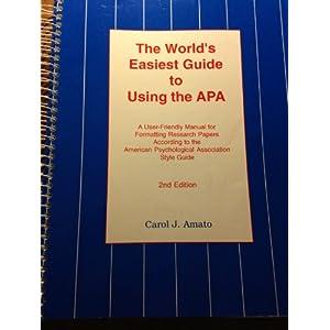 american psychological association model term paper
