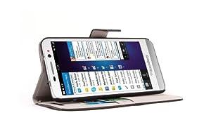 Supremery - Blackberry Z30 Kunstleder Tasche Case Etui Sleeve Cover Schutzhülle Hülle mit Standfunktion in schwarz