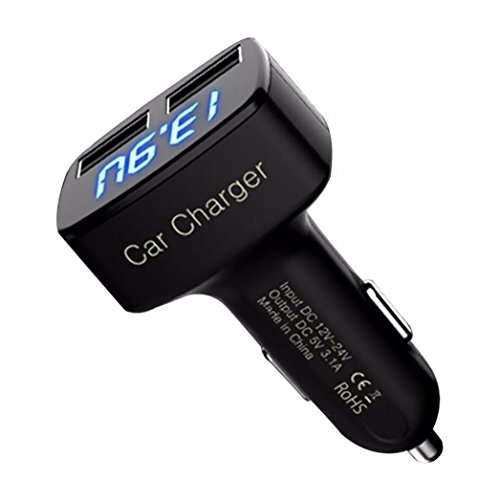 Tonsee-4-In-1-Dual-USB-Car-Charger-Adapter-Voltage-DC-5V-31A-Tester-For-iPhone
