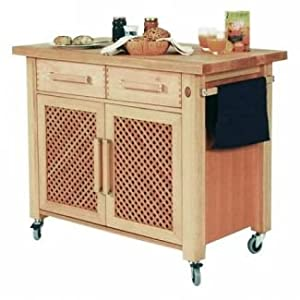 the littlecote kitchen trolley island fully assemled