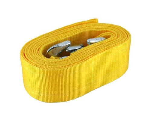 Best Brand Jt-211 4M Car Auto Tow Rope With Two Forging Iron Hooks (Yellow) front-481873