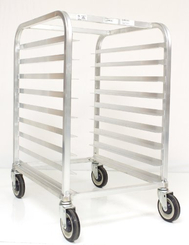"Magna Industries 23721 Aluminum End-Load Half Size Rack With Stem Casters, 20-1/2"" Width X 36"" Height X 26"" Depth, 9 Shelves front-228139"