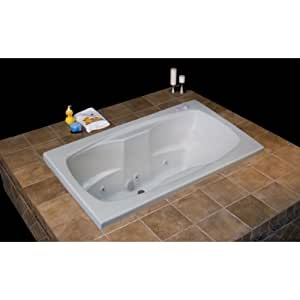 Carver Tubs AR7242 72 Inch X 42 Inch Whirlpool I Package 6 Jets Soaking T