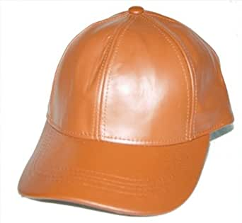 100 geniune leather baseball cap hat one size fit
