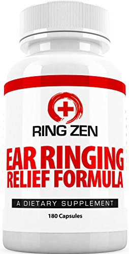 Tinnitus Relief Formula - RingZen (3 Month Supply) - Effective And Natural Supplements for Ringing in the Ears with Citrus Bioflavonoids for Control Tinnitus (180 Capsules)