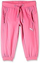 Puma Girls' Trousers (82667103_Azalea Pink_116)