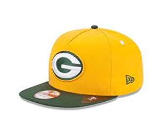 NFL Green Bay Packers 9Fifty Turnover Snapback 2 Tone Cap, Gold Green by New Era