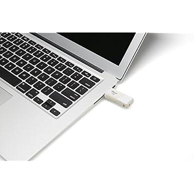 PNY Turbo 128GB USB 3.0 Flash Drive, Pearl White (P-FD128TBOPW-GE)
