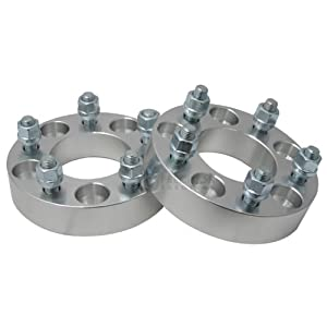 """(2) 32mm (1.25"""") 5x4.75 to 5x4.75 Hubcentric Wheel Spacers for Chevrolet Corvette Camaro Pontiac GTO"""