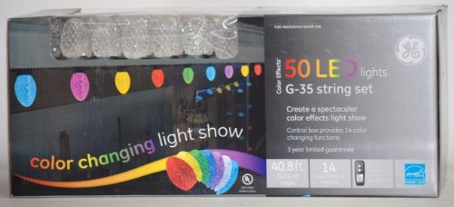 ge color effects 50 led color changing light show wremote control