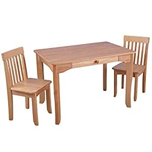 Amazon.com: KidKraft Avalon Table and Chair Set - Natural ...