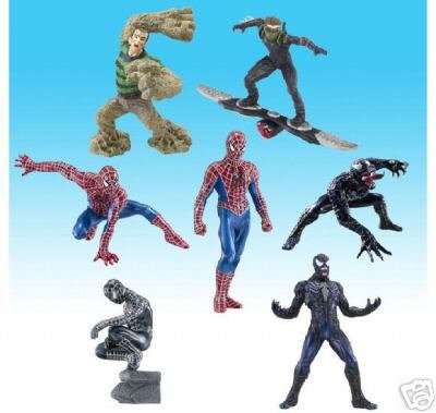 Picture of Bandai Spider-man 3 Figures / 7 Versions + 1 Secret (B0012M0CYE) (Spider-Man Action Figures)
