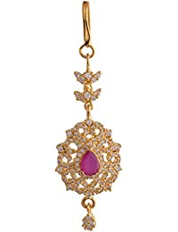 Ganapathy Gems 1Gram Gold Plated Mangtika With Cz Stones (8417) 8417