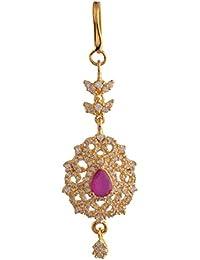 Ganapathy Gems 1Gram Gold Plated Mangtika With Cz Stones (8417) 8417
