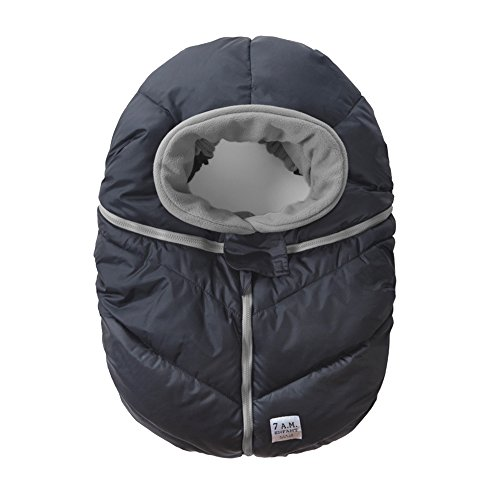 7AM Enfant Car Seat Cocoon: Infant Car Seat Cover Micro-Fleece Lined with an Elasticized Base, Metallic Prussian Blue (Micro Car Seat Cover compare prices)