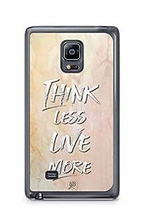 YuBingo Think Less. Live More Designer Mobile Case Back Cover for Samsung Galaxy Note 4 Edge