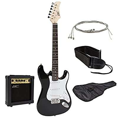 Full Size Electric Guitar with Amp, Case and Accessories Pack Beginner Starter Package