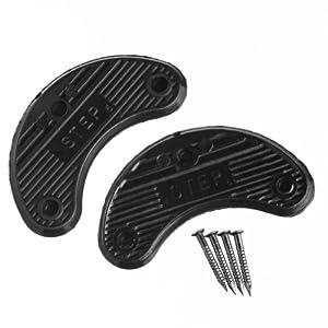 14 (7 Pair) Shoe Heel Plates Taps Size Large & Nails