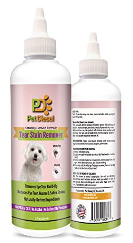 Dog Eye Tear Stain Build Up Remover by Pet Diesel | Natural & Effective Solution | Antifungal Coconut & Palm Oils | Reduces Saliva & Mucus Discharge Stains | For Maltese, Chihuahua, Poodle & More (Tear Stain Remover For Maltese compare prices)
