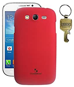 FUSON PREMIUM HARD BACK CASE COVER FOR SAMSUNG GALAXY GRAND - I9082 - RED WITH KEY