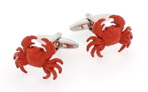 Crab cufflinks with presentation box