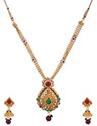 Ketan Jewellers Traditional Rajastani Jadtar Necklace Set With Dangle & Drop Jhumki For Women -91