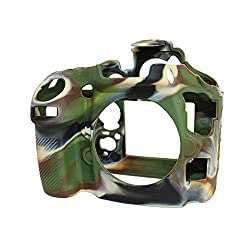 easyCover Silicone Camera Case with Camoflage Pattern for Nikon D800/D800E