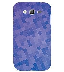 DARK AND LIGHT BLUE CHECK PATTERN 3D Hard Polycarbonate Designer Back Case Cover for Samsung Galaxy Grand Neo Plus :: Samsung Galaxy Grand Neo Plus i9060i