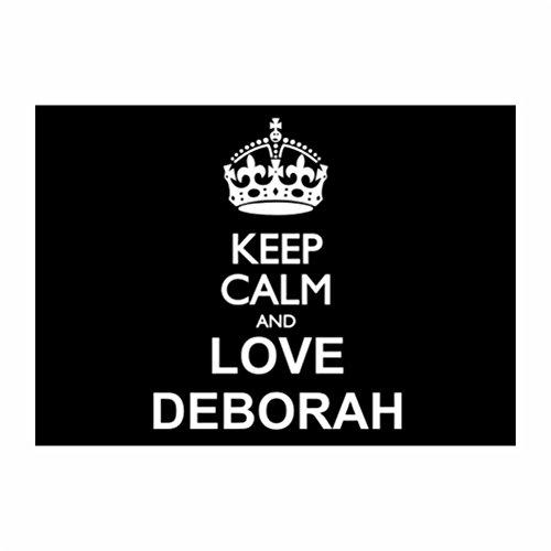 Teeburon Keep calm and love Deborah Sticker Pacchetto di 4