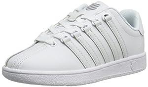K-Swiss Classic Vintage PS Tennis Shoe (Little Kid),White/White,13.5 M US Little Kid