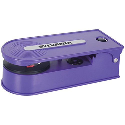 Great Features Of Sylvania Turntable Record Player with USB Encoding, Purple