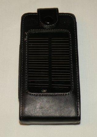 Leather Solar Charger Battery Case for iPhones at Amazon.com