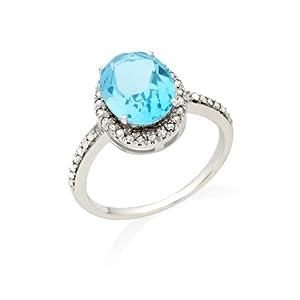 Miore - JM038R4WP - Bague Femme - Or blanc 375/1000 (9 carats) 2.1 gr - Diamants 0.15 cts - T 56