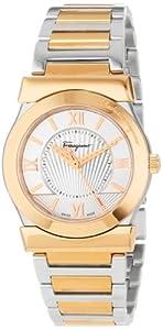 Salvatore Ferragamo Women's FI1010013 Vega Gold Ion-Plated Stainless Steel Silver Sunray Dial Quartz Watch by Salvatore Ferragamo