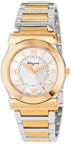 Salvatore Ferragamo Women's FI1010013 Vega Gold Ion-Plated Stainless Steel Silver Sunray Dial Quartz…