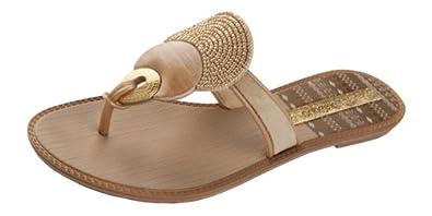Grendha Kira femmes Flip Flops / Sandals - Beige - SIZE EU 38