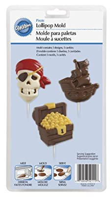 Wilton 2115-2111 Pirate Lollipop Mold, Large, 3 Designs