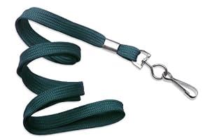 "Teal 3/8"" Wide 36"" Flat Braid Non-Breakaway Lanyard, Swivel Hook (100/bag)"