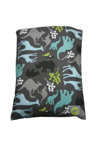 Itzy Ritzy Zippered Wet Bag, Urban Jungle Blue