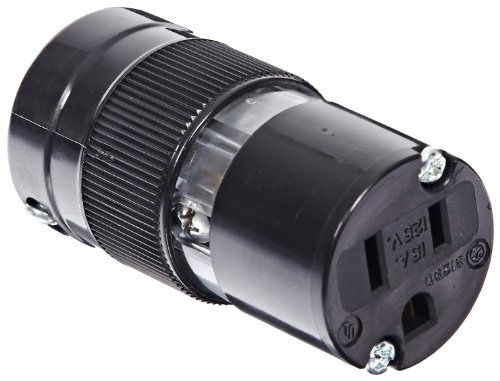 Marinco 5269BL 15 Amp, 125 Volt, 2 Pole-3 Wire, Connector - Black