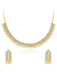 Sukkhi Angelic Gold Plated AD Necklace Set