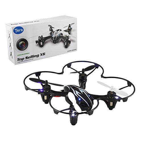 Tera Mini Quadrocoptère drone Radio commande 2.4G sans fil avec caméra, 4 axes, télécommande LCD affichage