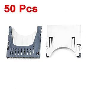 50Pcs SD Card Sockets Connectors Replacements 29 x 28.5 x 2.5mm