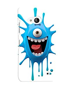 Printvisa Premium Back Cover one eyed blue monster cartoon character Design For Microsoft Lumia 550::Nokia Lumia 550