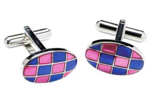 Pink and Blue cufflinks