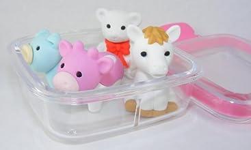 Pet Animal Eraser Set 4 Piece in Square Case BCM38441
